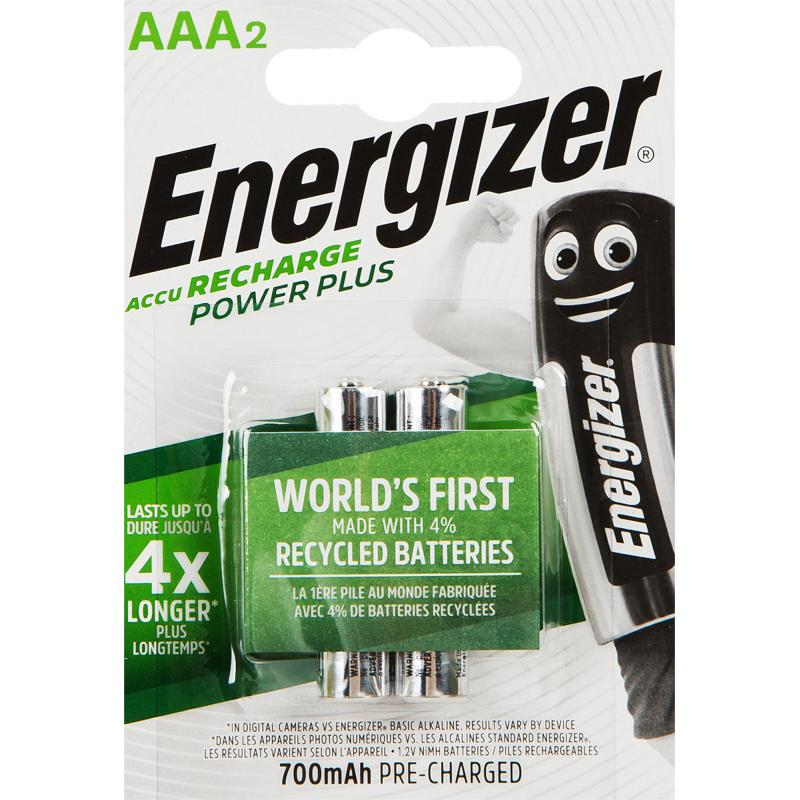 Аккумулятор Energizer Power Plus NH12 BP2 Pre-Ch 700 мА/ч, 2 шт.
