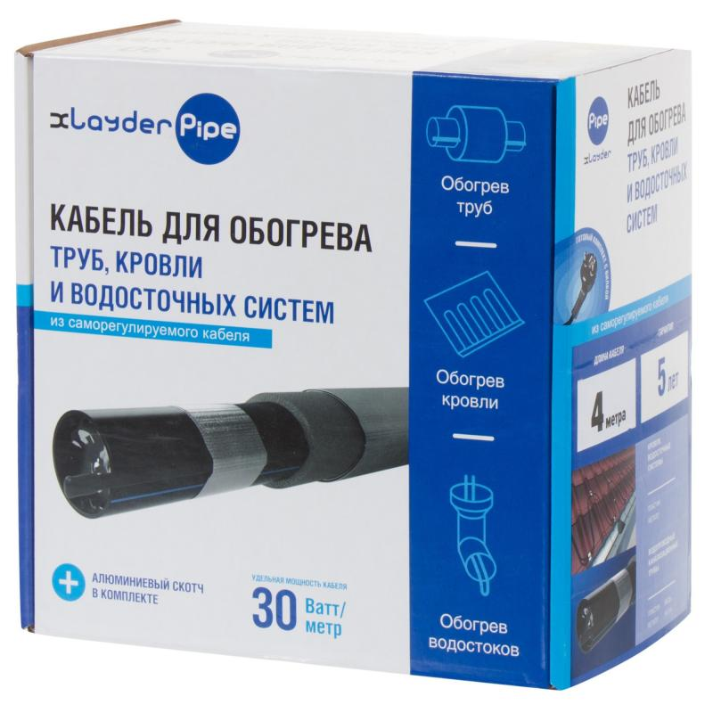 Комплект для обогрева xLayder Pipe EHL-30CR-4 L
