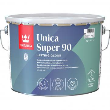 Лак глянцевый Tikkurila Unica Super ЕР 9 л  лак яхтный unica super основа ep полуматовый тиккурила 9 л