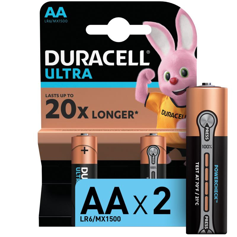 Батарейка алкалиновая Duracell Ultra Power AA, 2 шт.