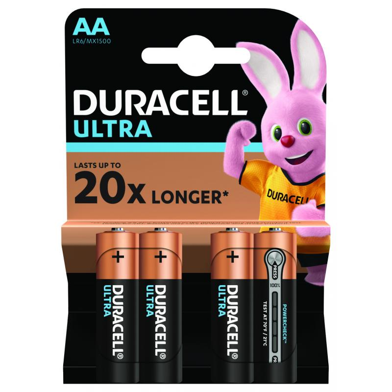 Батарейка алкалиновая Duracell Ultra Power AA, 4 шт.