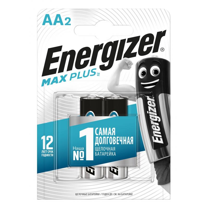 Батарейка алкалиновая Energizer Maximum AA/LR6, 2 шт.